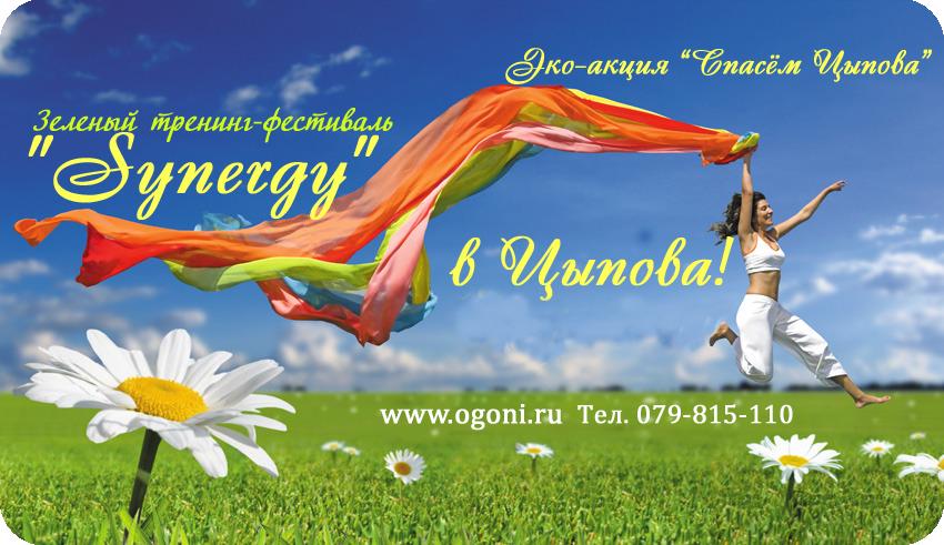 """Зеленый тренинг-фестиваль """"Синергия"""" в Цыпова!"""